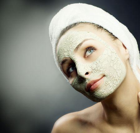 얼굴 표정: Spa Facial Mud Mask.Dayspa