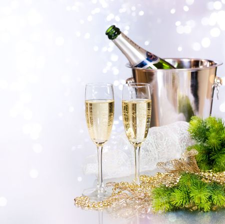 Champagne.New Jahr Eve.Celebration
