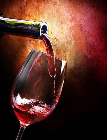 bouteille de vin: Vin Banque d'images