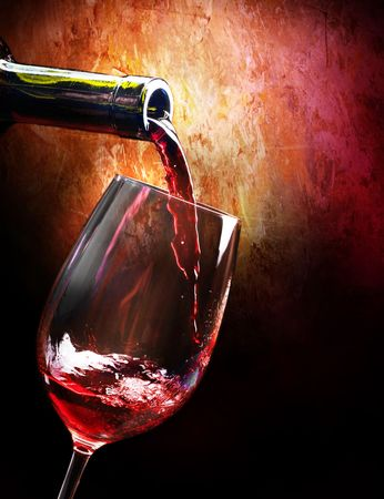 glass bottles: Wine Stock Photo