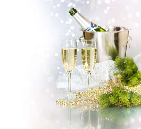 champagne flute: CHAMPAGNE.CELEBRATION  Stock Photo
