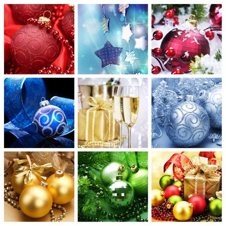 miracle tree: Christmas Collage Stock Photo