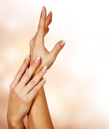Beautiful Female Hands.Manicure concept photo