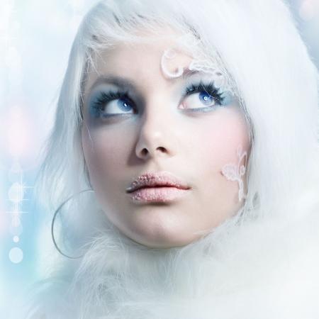 maquillaje de fantasia: Maquillaje de moda Art.Perfect de Beauty.High-clave de invierno