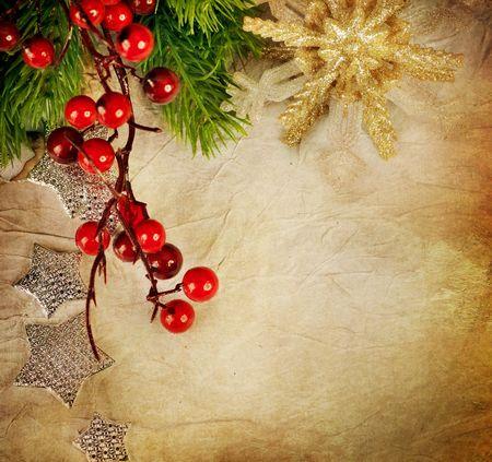 Christmas Greeting Card.Vintage Style Stock Photo - 8374681