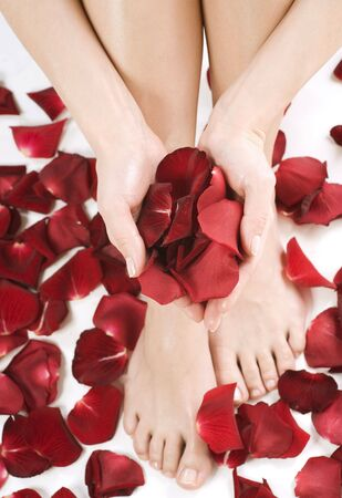 petals: Legs and hads  Spa. Stock Photo