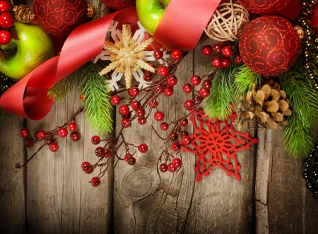 retro styled: Christmas Vintage decoration Stock Photo