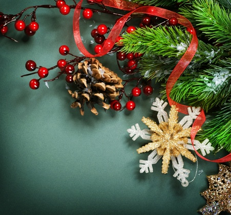 Christmas Decoration border design photo