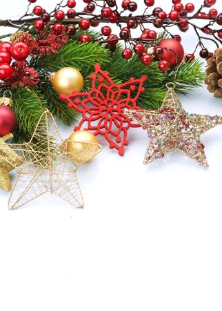 Christmas Decoration border design Stock Photo - 8375030