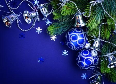 Christmas decoration border design Stock Photo - 9357813