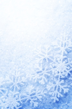 snow flakes: Snowflakes border. Winter Holiday Background