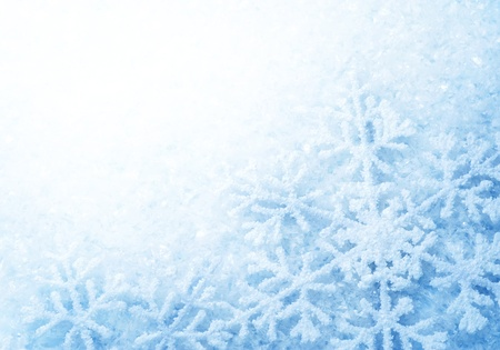 Snowflakes border. Winter Holiday Background  photo