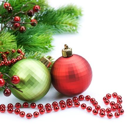 ホワイト上のクリスマスのボーダー装飾 写真素材