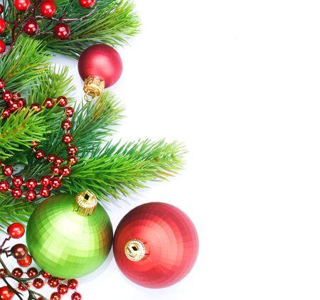 Christmas Border Decorations over white photo