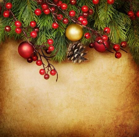 weihnachten vintage: Vintage Christmas Greeting Card mit textfreiraum