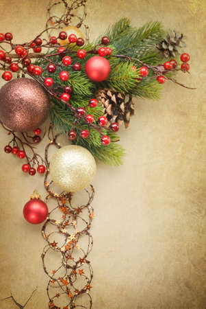 Christmas Vintage decoration Stock Photo - 9082687