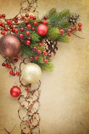 Christmas Vintage decoration Stock Photo - 9082687