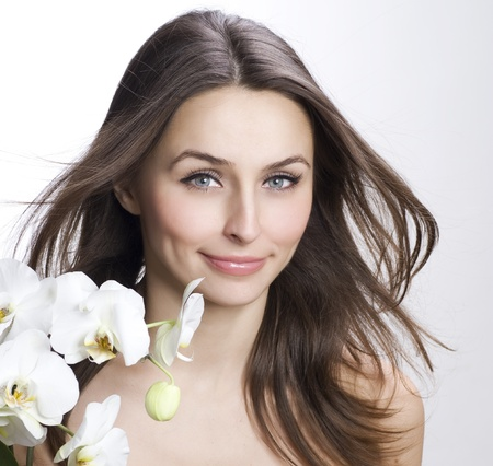 Beauty Portrait with perfect skin and healthy hair Stock Photo - 9082691