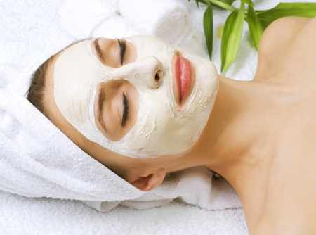 facial care: Beauty in Spa Stock Photo