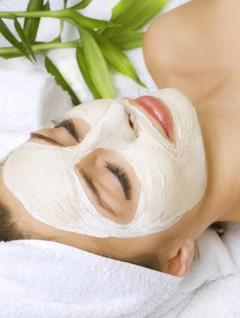 tratamiento facial: Belleza en Spa Foto de archivo