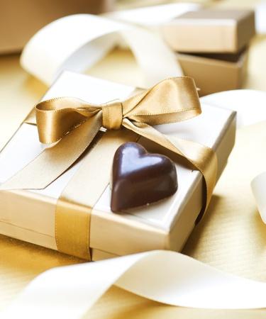Valentine Gift.Chocolate heart shaped photo
