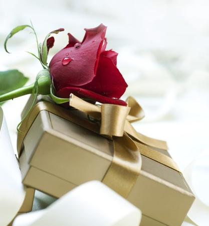 Cadeau de la Saint-Valentin Banque d'images - 8720970