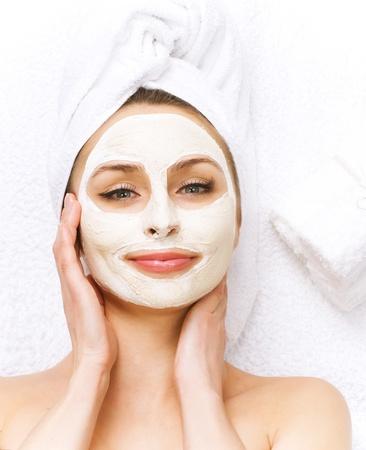 Spa facial mask.dayspa concept photo