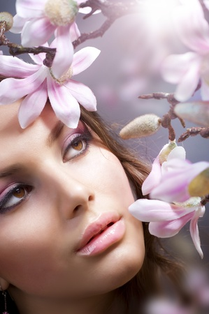 beautifu: Spa Girl with flowers