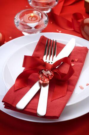 diner romantique: D�ner romantique Banque d'images