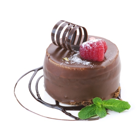 cafe bombon: Elegante pastel sobre blanco