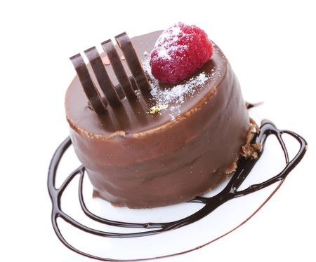 cafe bombon: Pastel sobre blanco