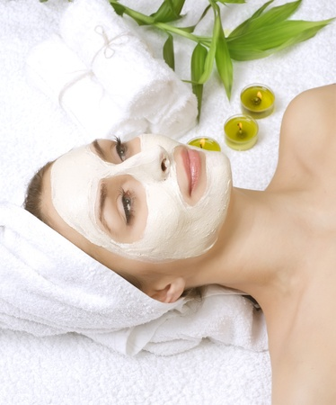 Spa facial clay mask photo