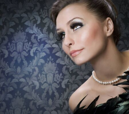 Beautiful Luxury Woman portrai photo