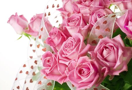 bunches: Big Roses Bouquet Stock Photo