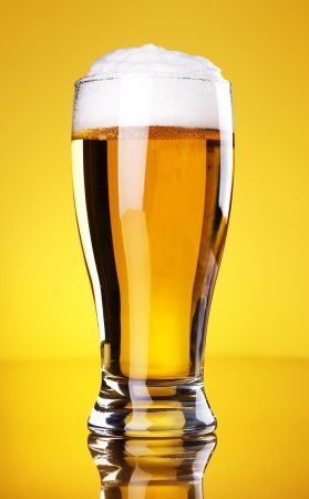 single beer bottle: Beer Stock Photo