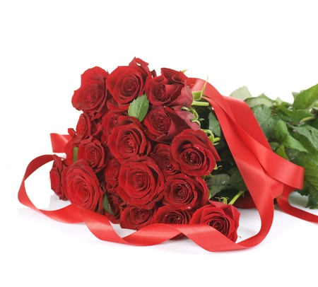 Big Red Roses Bouquet border Stock Photo - 9022630