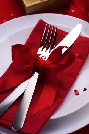 diner romantique: D�ner romantique de Valentine Banque d'images