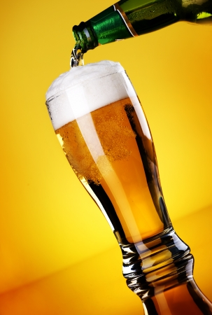 Beer Pouring Stock Photo - 9022635