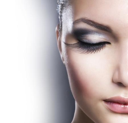 Beauty Closeup Gesicht.Make-up Lizenzfreie Bilder
