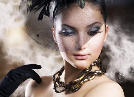 headwear: Romantic beauty portrait