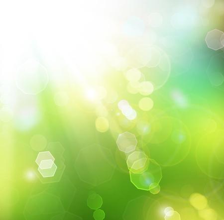 lens flare: Bellissimo sfondo di natura primavera Bokeh.Blurred Sunny Archivio Fotografico