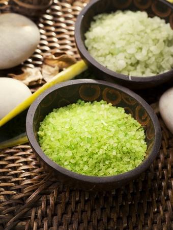 Scented Spa Sea Salt Closeup  photo