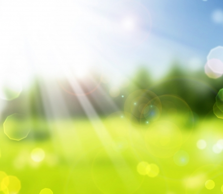 humeur: Belle Nature printemps Bokeh.Blurred Sunny arri�re-plan
