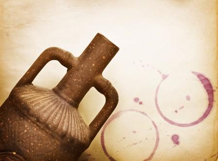 ollas barro: Dise�o vino vendimia