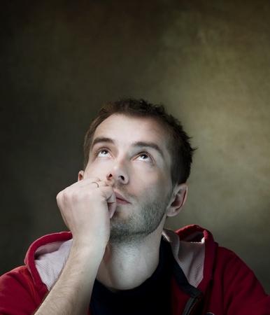 man thinking: Thinking man