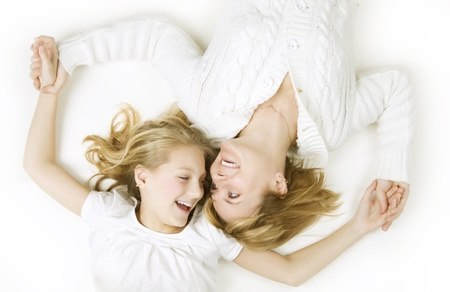 Happy Mother and her teenage Daughter Stock Photo - 9378899