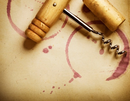 brown cork: Wine design concept. Vintage styled
