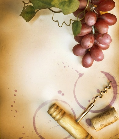 brown cork: Wine Background. Vintage Style