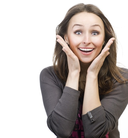 Surprised young woman Stock Photo - 9378863