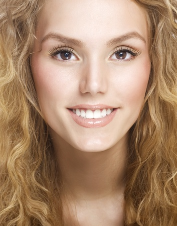Beautiful Healthy Smiling Girls Face  photo